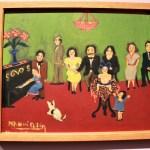 Reunión familiar, 1935, Nahui Olin, óleo sobre cartón, colección María Ramírez Mota Velasco.