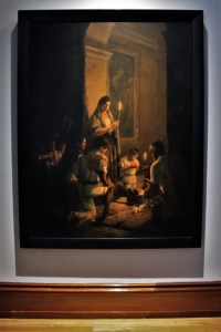 """El velorio,1889, José María Jara, óleo sobre tela, colección acervo constitutivo del Museo Nacional de Arte, exposición """"Saturnino Herrán y otros modernistas""""."""