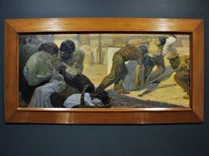 "Labor,1908, Saturnino Herrán, óleo sobre tela, colección INBA / Museo de Aguascalientes, ICA, exposición ""Saturnino Herrán y otros modernistas""."