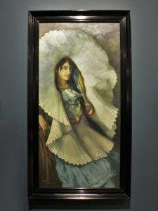 """Tehuana,1914, Saturnino Herrán, óleo sobre tela, colección INBA / Museo de Aguascalientes, ICA, exposición """"Saturnino Herrán y otros modernistas""""."""
