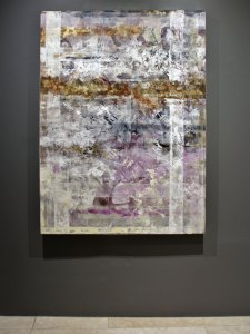 "Kukinet, 2018, Virginia Chévez, óleo sobre lino, exposición ""Pied à terre"".."