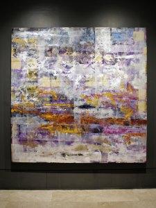 "Can't find my way home, blind faith, 2018, Virginia Chévez, óleo sobre lino, exposición ""Pied à terre""."