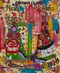 Capitana, Acrílico sobre tela, 120 x 100 cm, año 2020, autor Demián Flores. Exposición Estandartes, lienzos para la memoria.