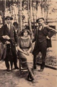 """Manuel Rodríguez Lozano, Carmen Mondragón y Gerardo Murillo """"Dr. Atl"""""""