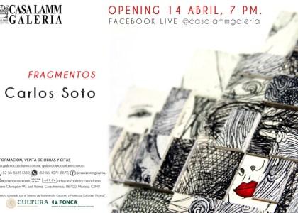 Nueva exposición de Carlos Soto titulada «Fragmentos»