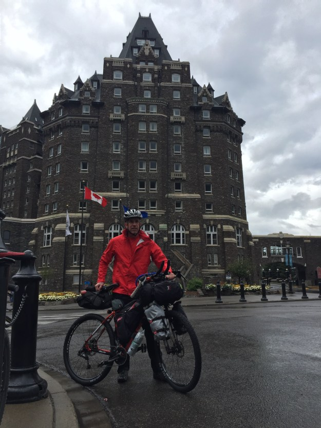 Banff Springs Hotel. The beginning of the Great divide route
