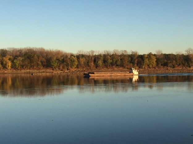 Barge on the Missouri River.