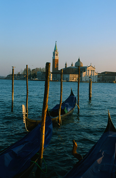I/Venetien/Venedig: Gondeln, Blick auf San Giorgio