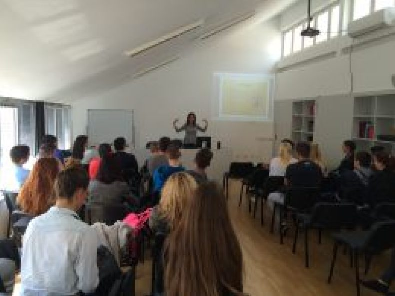 Maura Sweeney + Maura4u speaks at University of Split in Croatia 2015
