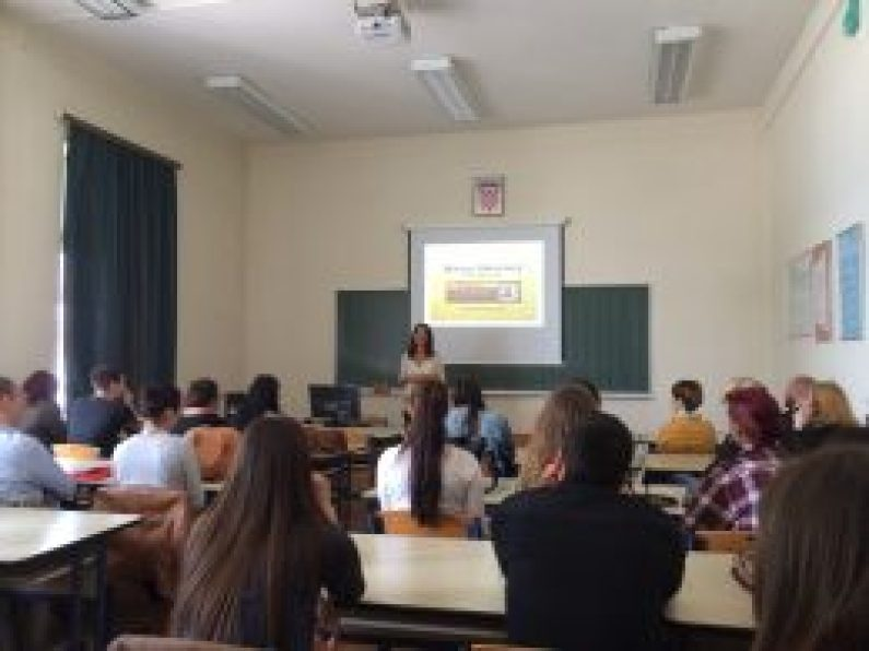 Maura Sweeney + Maura4u speaks at University of Zadar in Croatia 2015