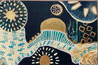 Interplanetary Worship painting by Maura Satchell, artist