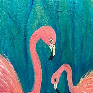 Flamingo Shaming Painting by Maura Satchell