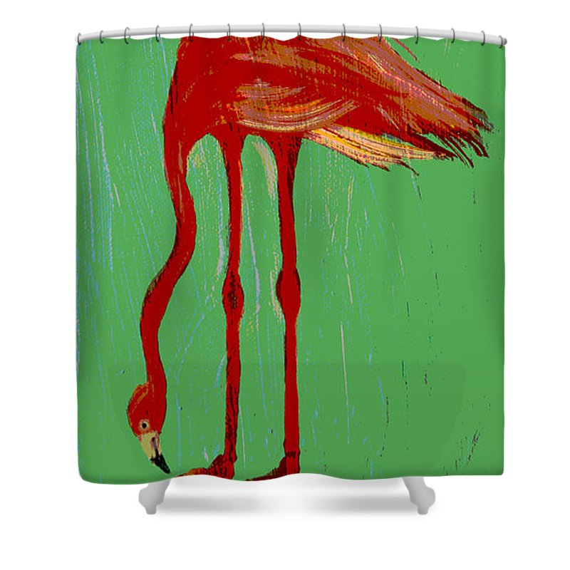A giant-sized #flamingo shower curtain might be just what your kid's bathroom needs!