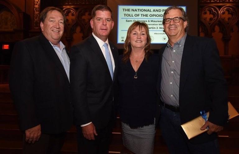 Maureen with John McGahan Marty Walsh & Sam Quinoes