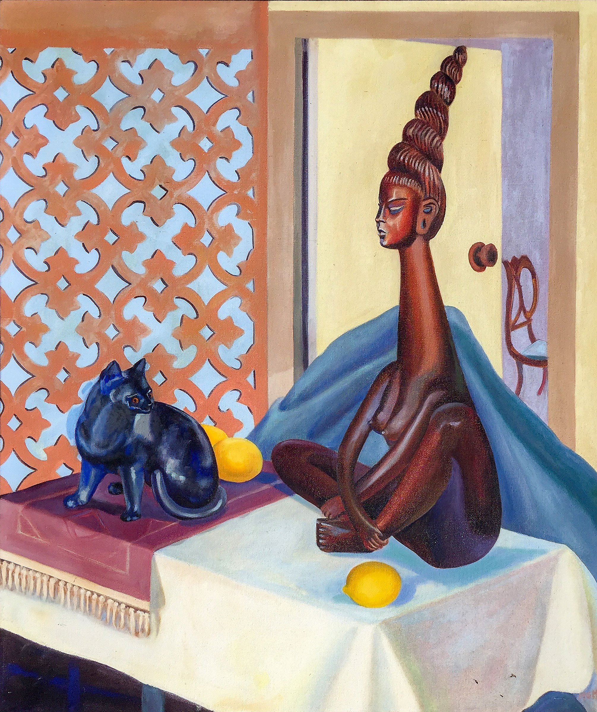 #22 Laotian lady - with black cat