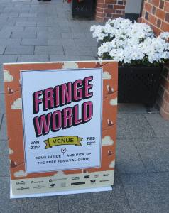 Fringe World Festival sign