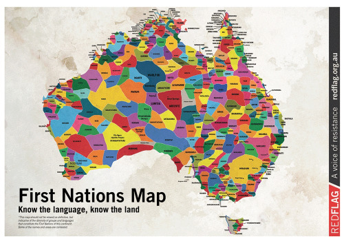 Map of language groups in Australia before white settlement