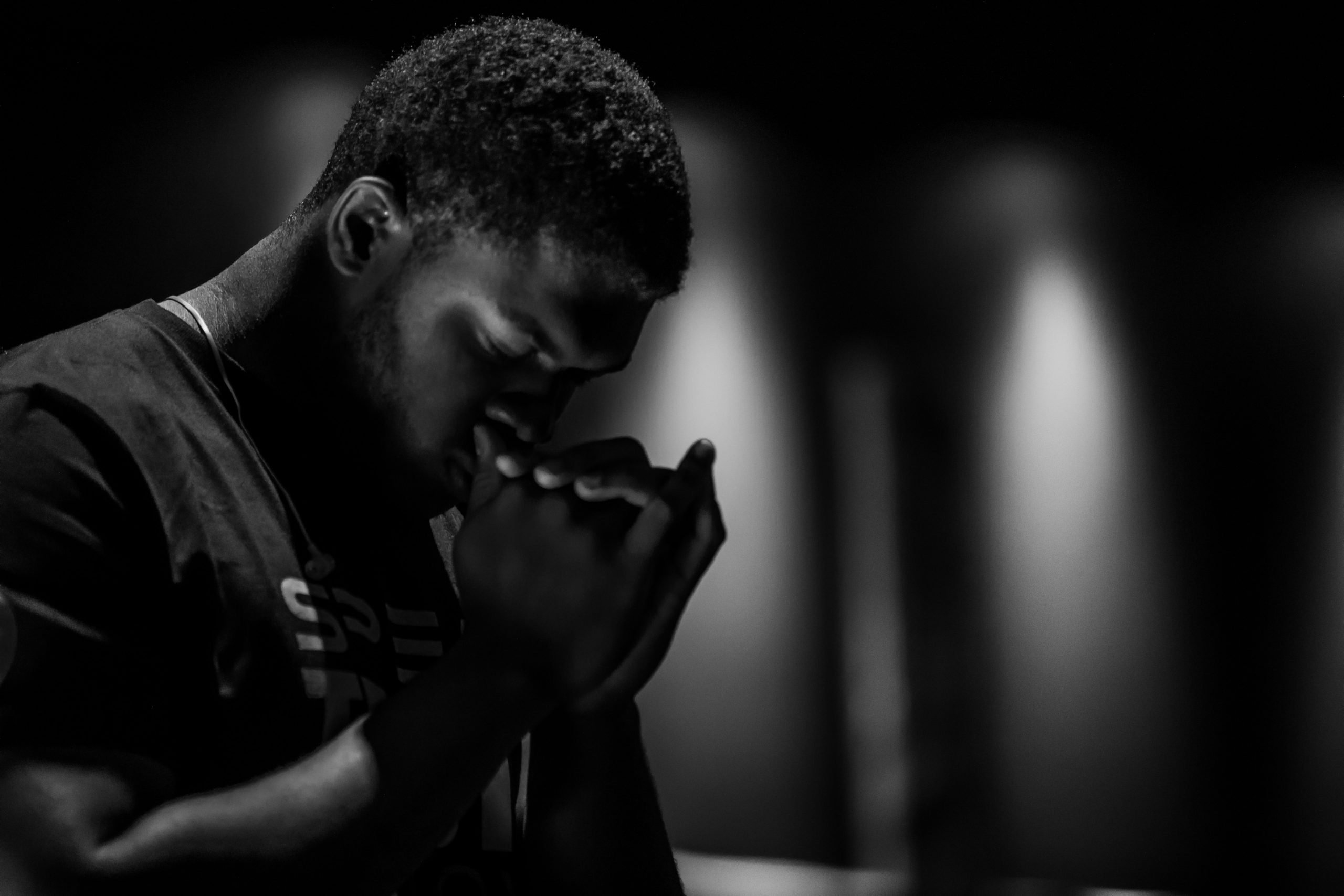 Man praying for deliverance from the wicked