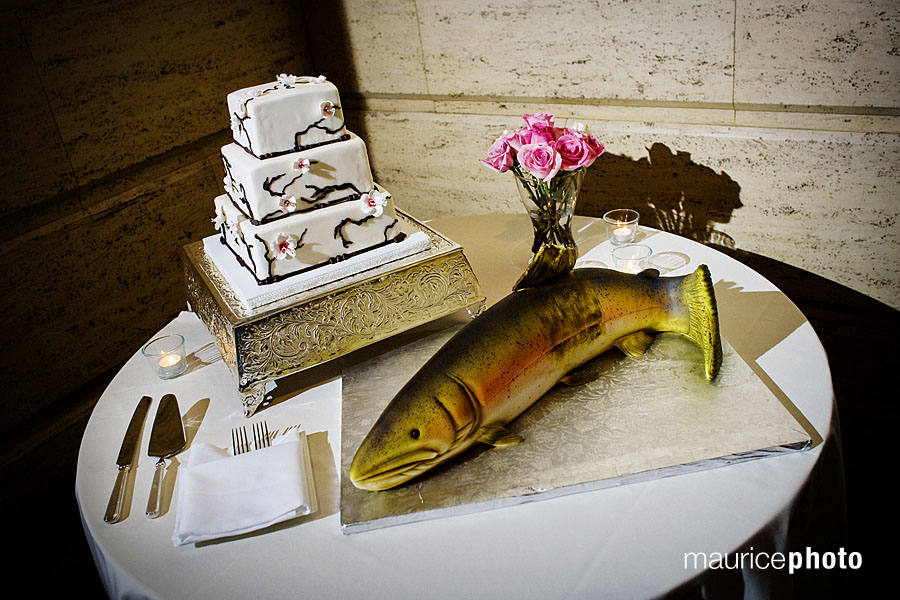 A fish cake by Mike\'s Amazing Cakes