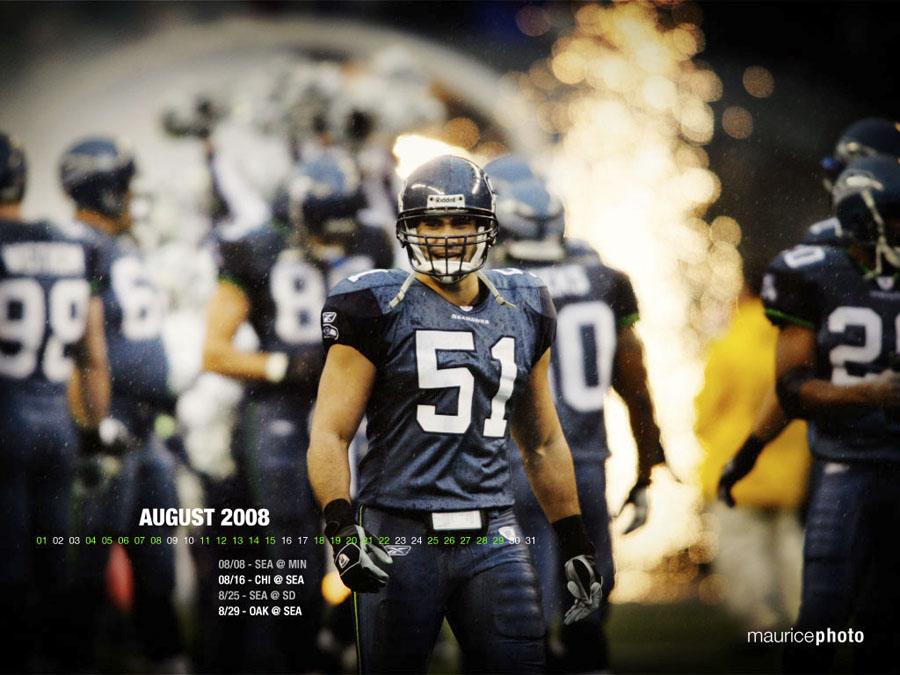 August Desktop Calendar | Seattle Seahawks