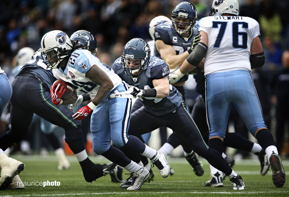 Chris Johnson of the Tennessee Titans runs the ball.