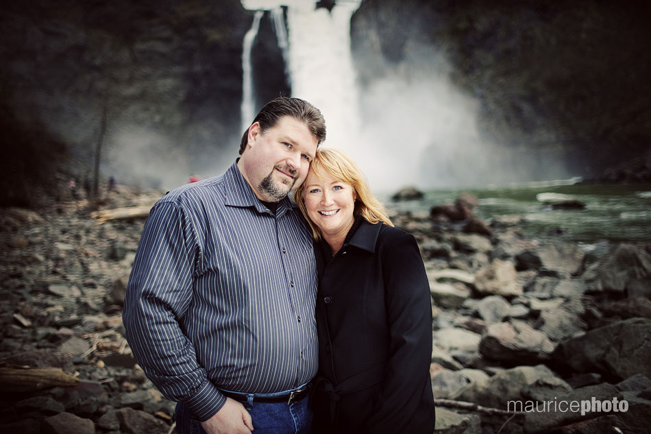 Engagement Portraits at Snoqualmie Falls.