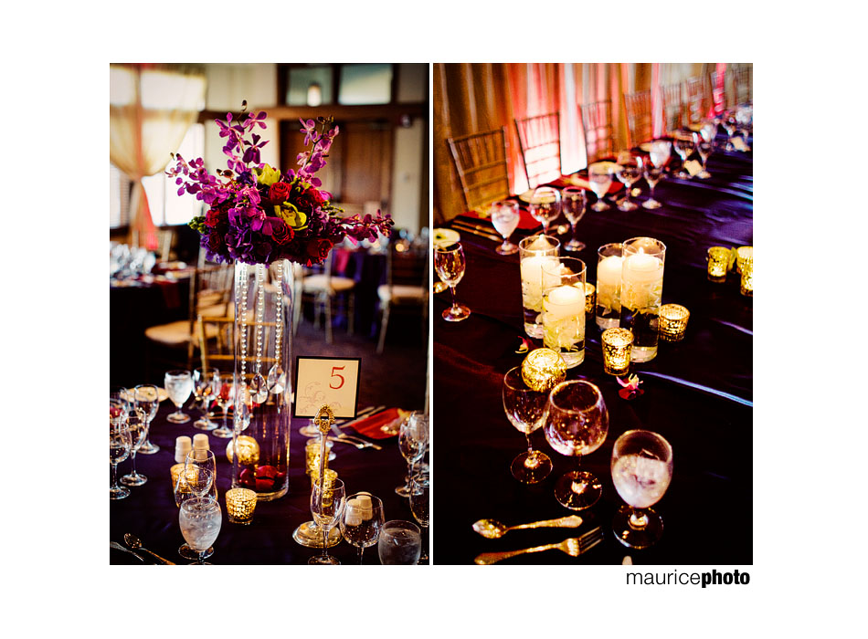 centerpieces and candles