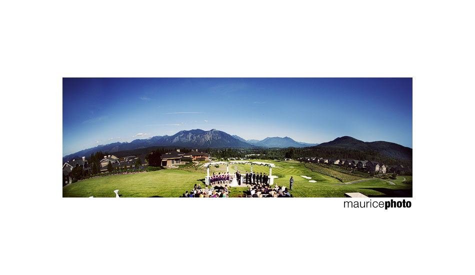 Panoramic photo of ceremony