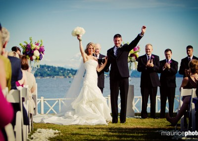 Outdoor ceremony pictures at the Seattle Tennis Club