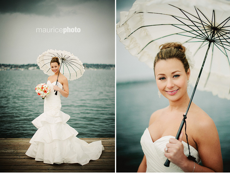 Wedding photos with vintage umbrellas by Bella Umbrella