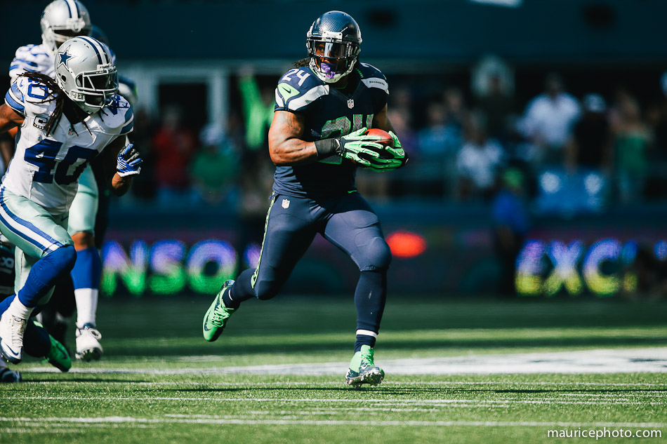 Seahawks Running Back Marshawn Lynch