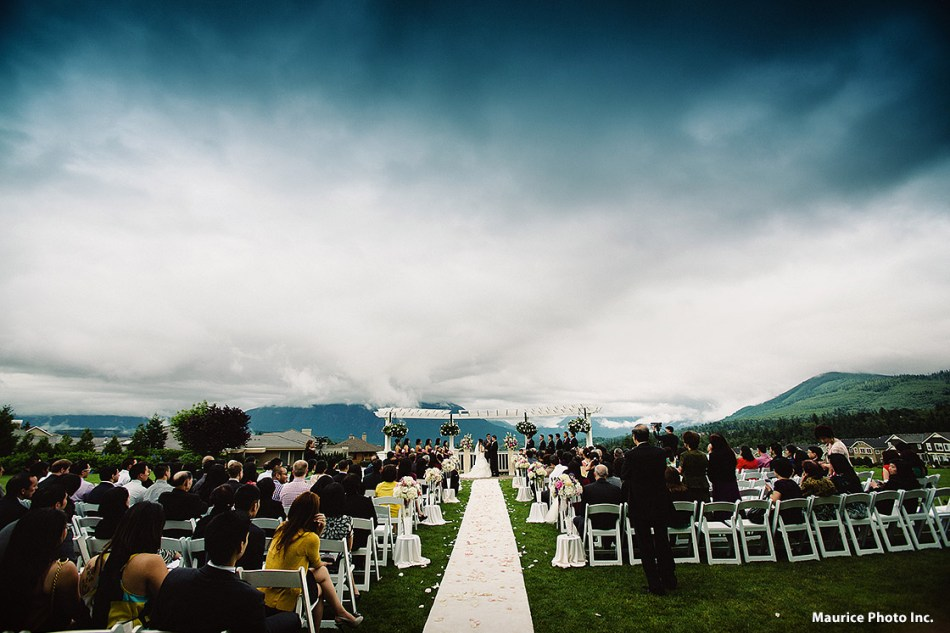 Linh and David's wedding at Snoqualmie Ridge TPC.