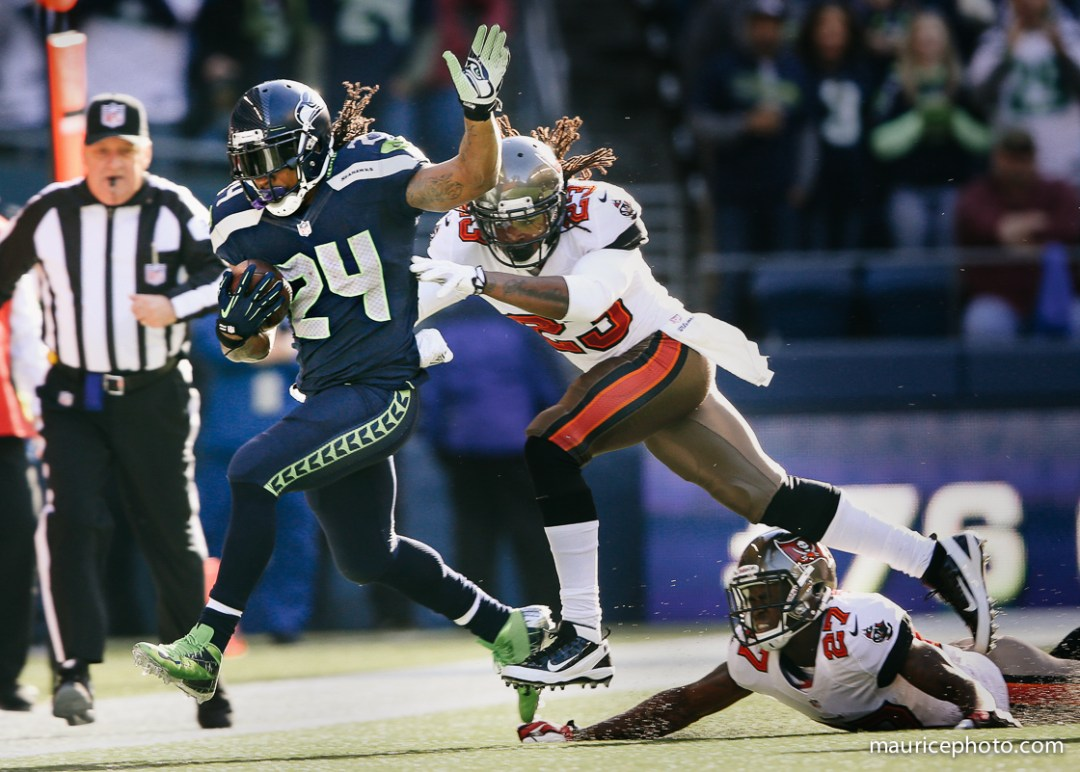 Seattle Seahawks vs Tampa Bay Buccaneers; Marshawn Lynch