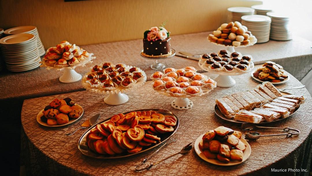 Wedding dessert bar instead of cake.