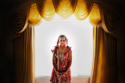 Bridal Portrait of a Sikh bride