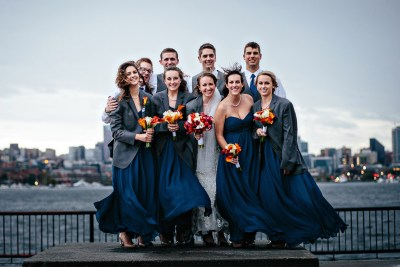 Fall Wedding photos at Gasworks Park.