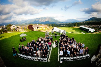Wedding ceremony at the Snoqualmie Ridge TPC