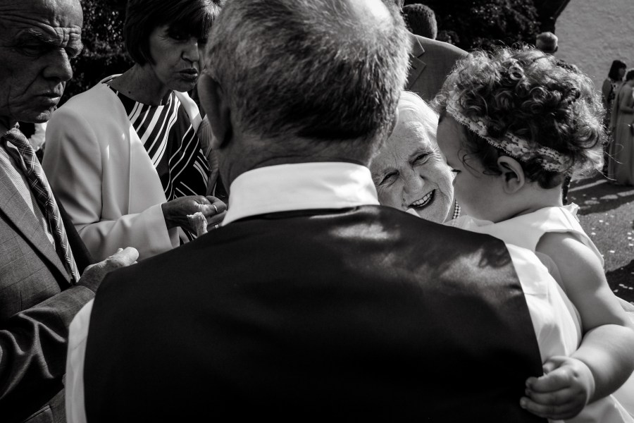 Hafod Farm Wedding - The look in this photo says it all.