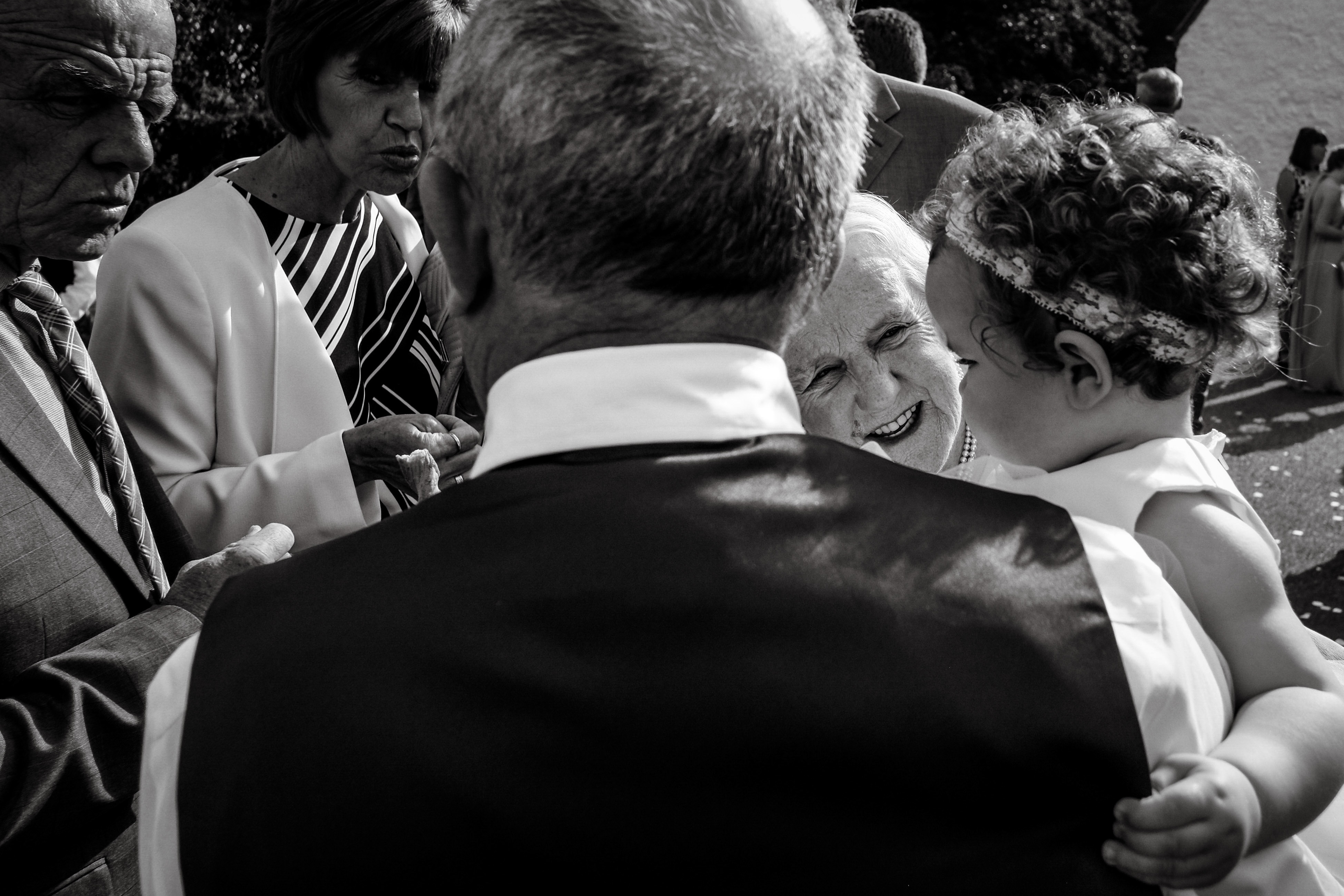 Conway wedding - The look in this photo says it all. Grandmother and her granchild look at each other and smile