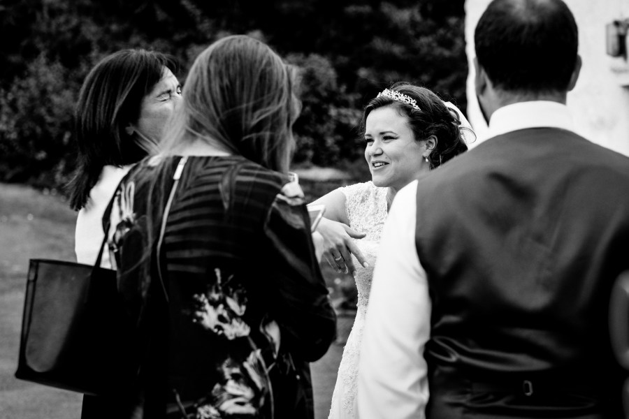 Hafod Farm Wedding - The bride laughing