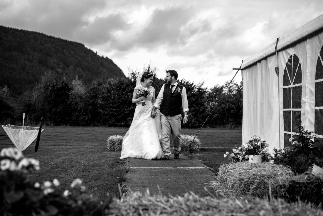 Hafod Farm Wedding - The Bride and Groom.