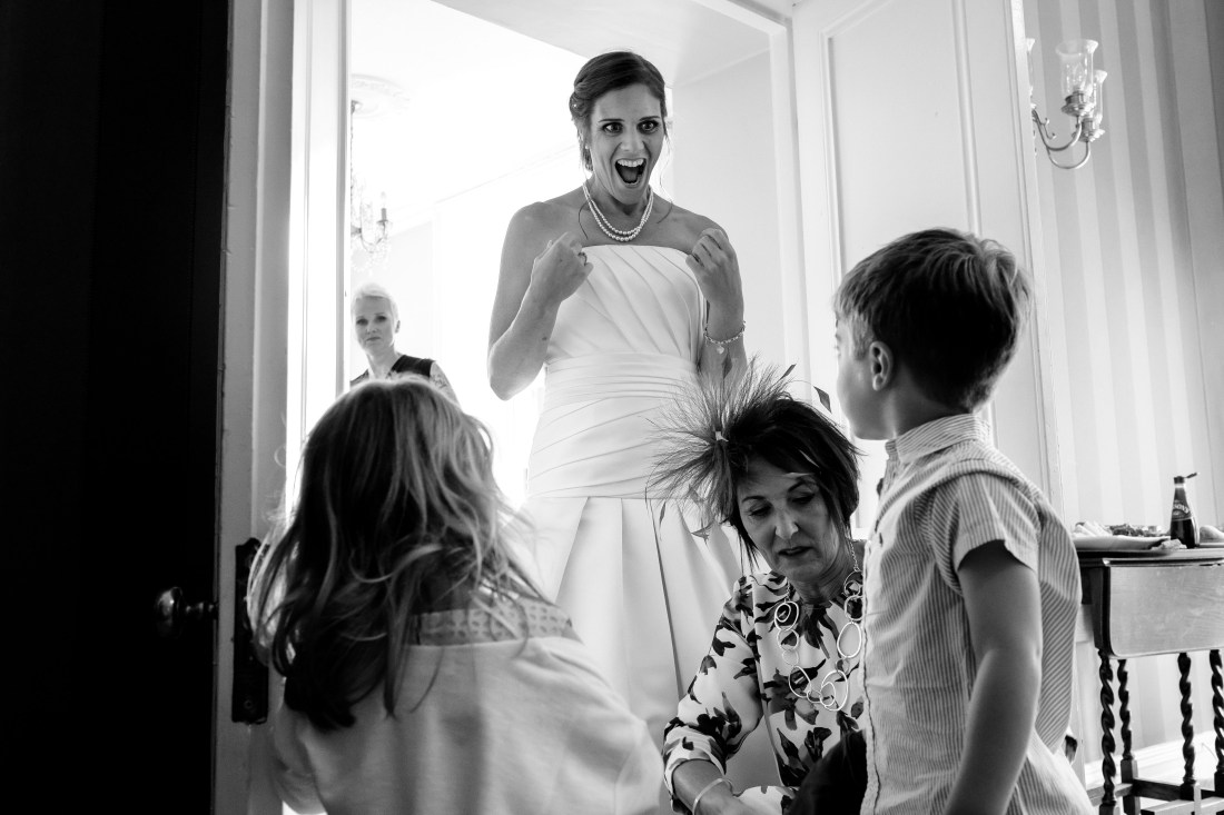 Statham Lodge Wedding - Bride and her children