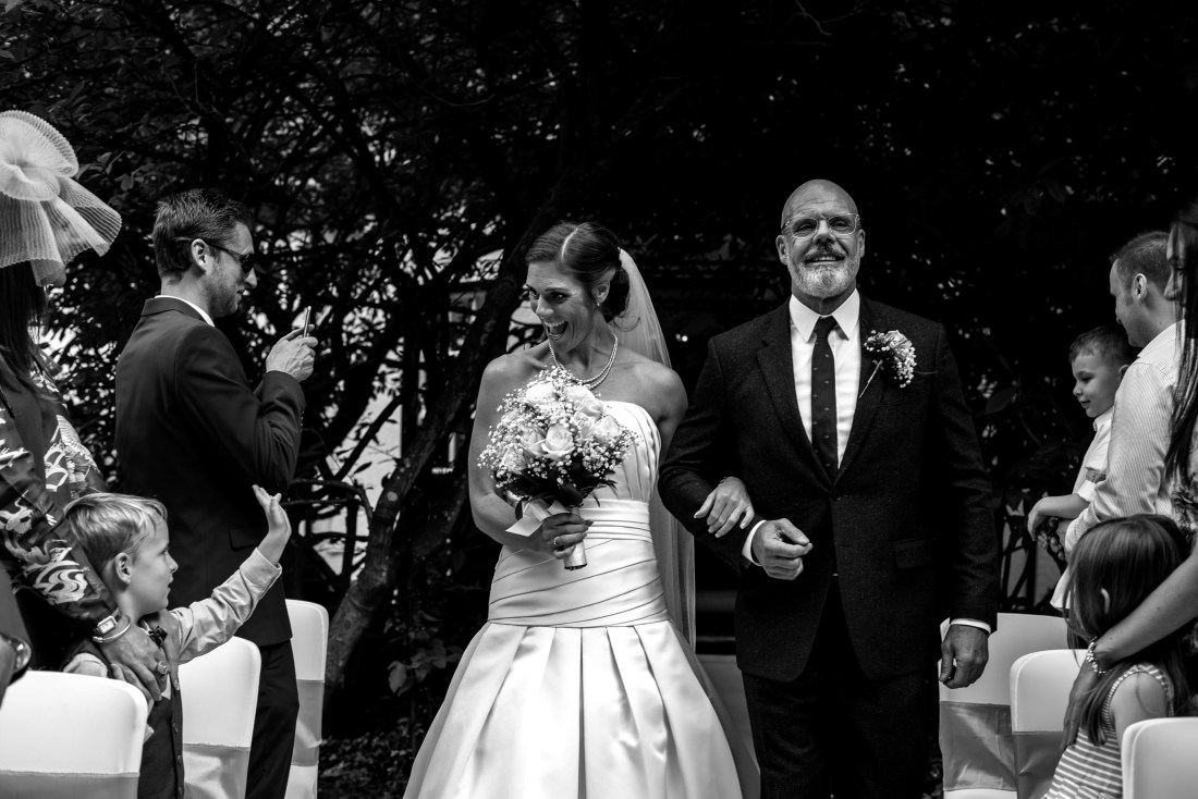 Statham Lodge Wedding - Bride and her father