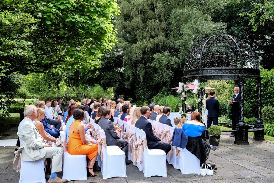 Statham Lodge Wedding - The whole congregation