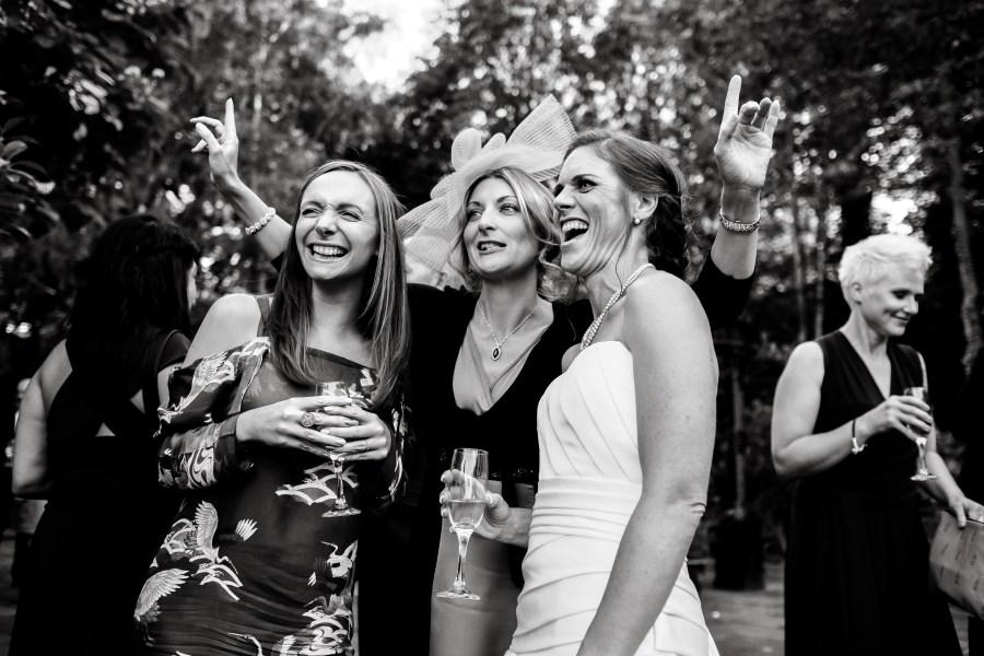 Statham Lodge Wedding - Bride and her friends selfie