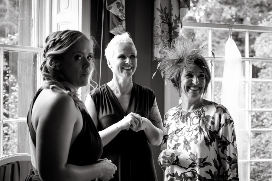 Statham Lodge Wedding - First glace at the bride