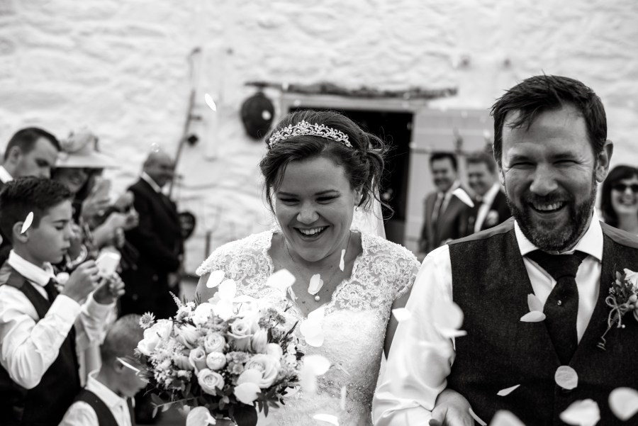Hafod Farm Wedding - Bride and Groom happiness.