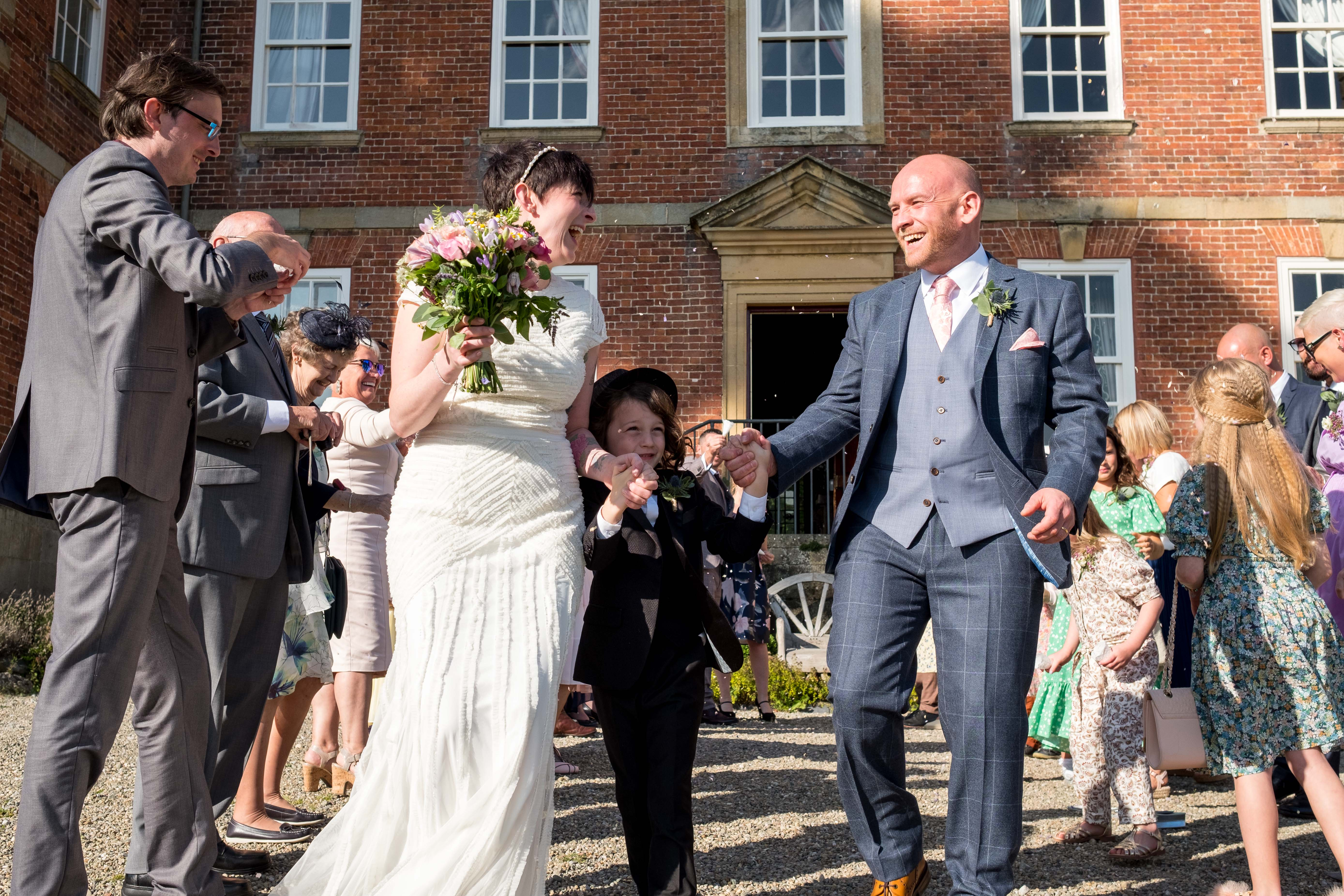 Happy wedding vibes as Rachel and Paul