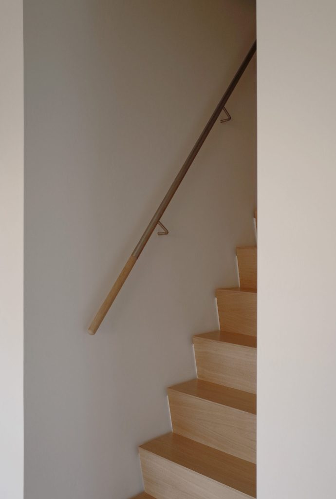 Stairs in penthouse by architect Maurice van Bakel