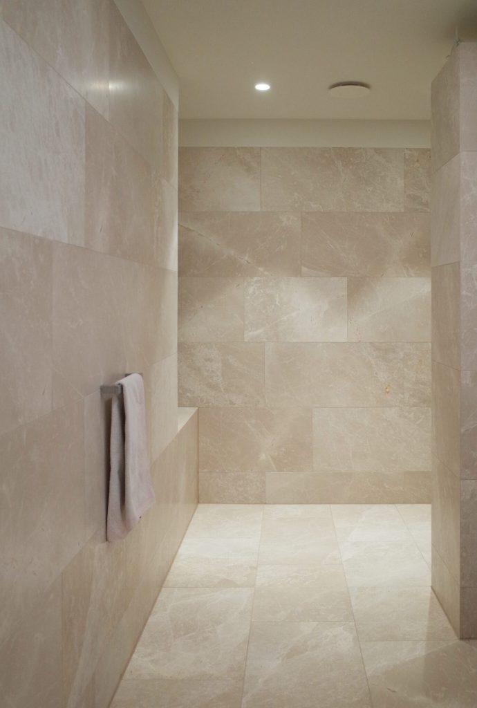 Architectural design of bathroom nature stone clad